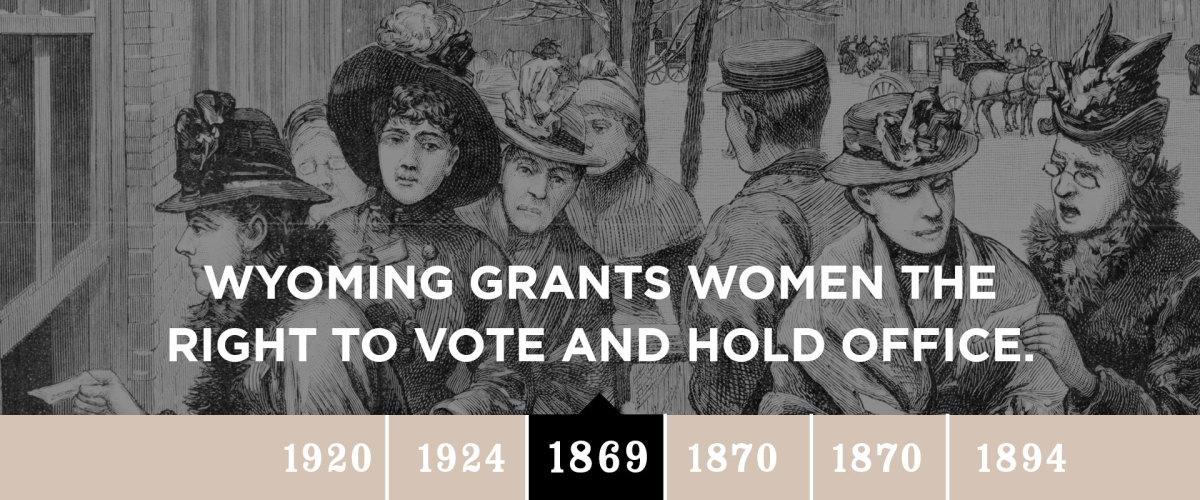 Wyoming Women Casting Votes