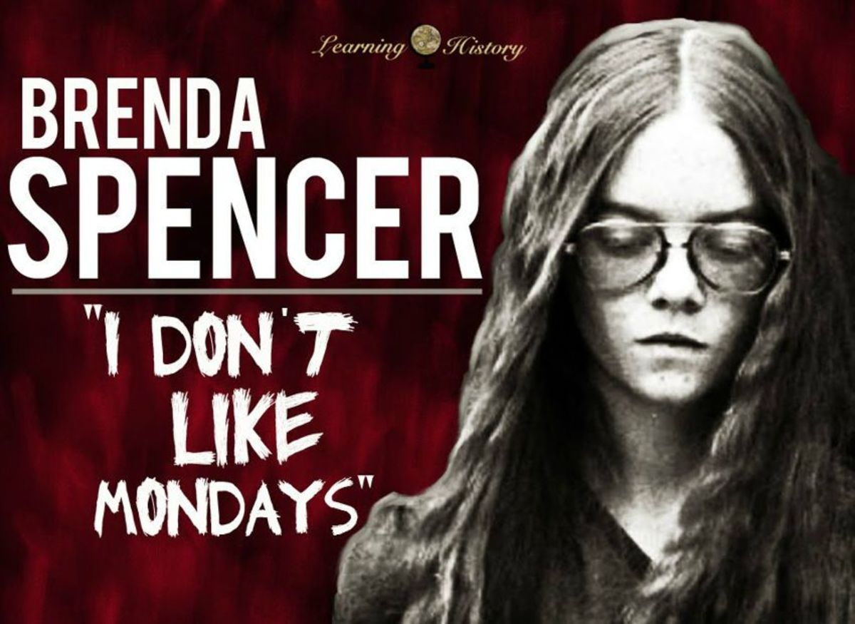Spencer infamously said that she committed this crime because she didn't like Mondays.