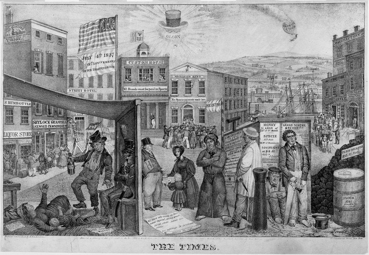 Panic of 1837.