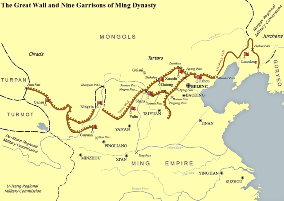 The Ming dynasty wall was the most recently built. Earlier barriers were quite porous.