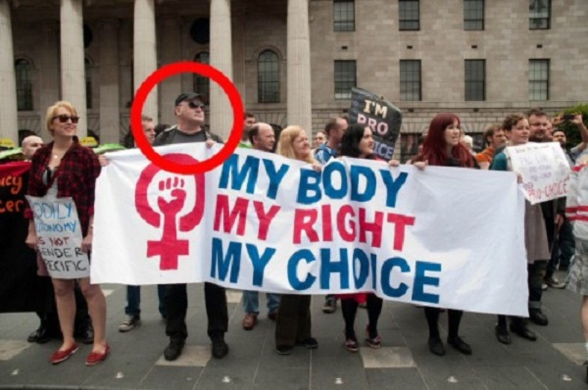 Convicted pedophile Patrick Cocoran at one of the numerous pro-abortion rallies he attended.
