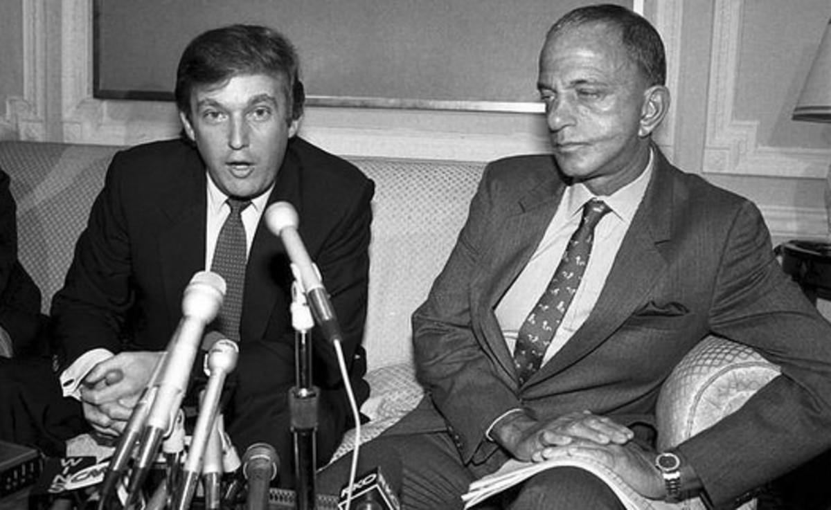 Donald Trump with Cohn.
