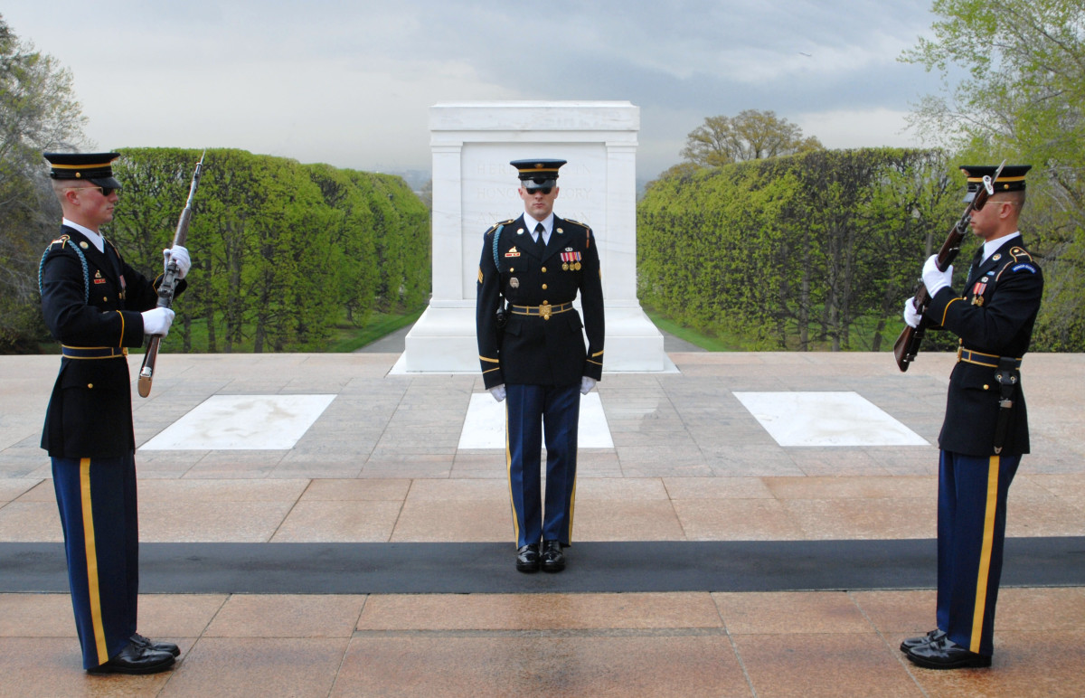 The Changing of the Guard at the Tomb of the Unknowns is an event that is distinctly patriotic. It symbolizes respect and gratitude for those that have made great sacrifices for America. Few people would confuse it with nationalism or fascism.