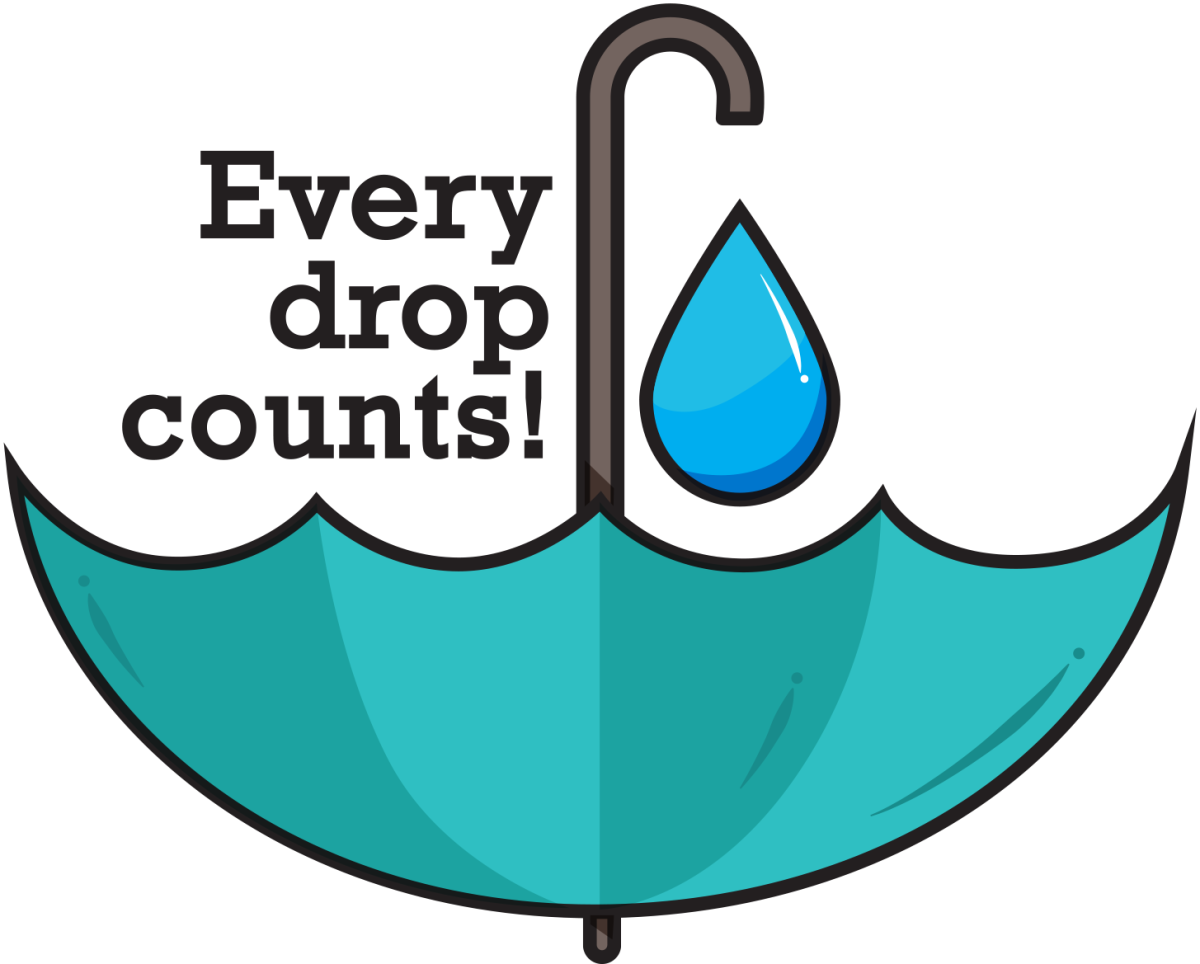 Every drop counts indeed...