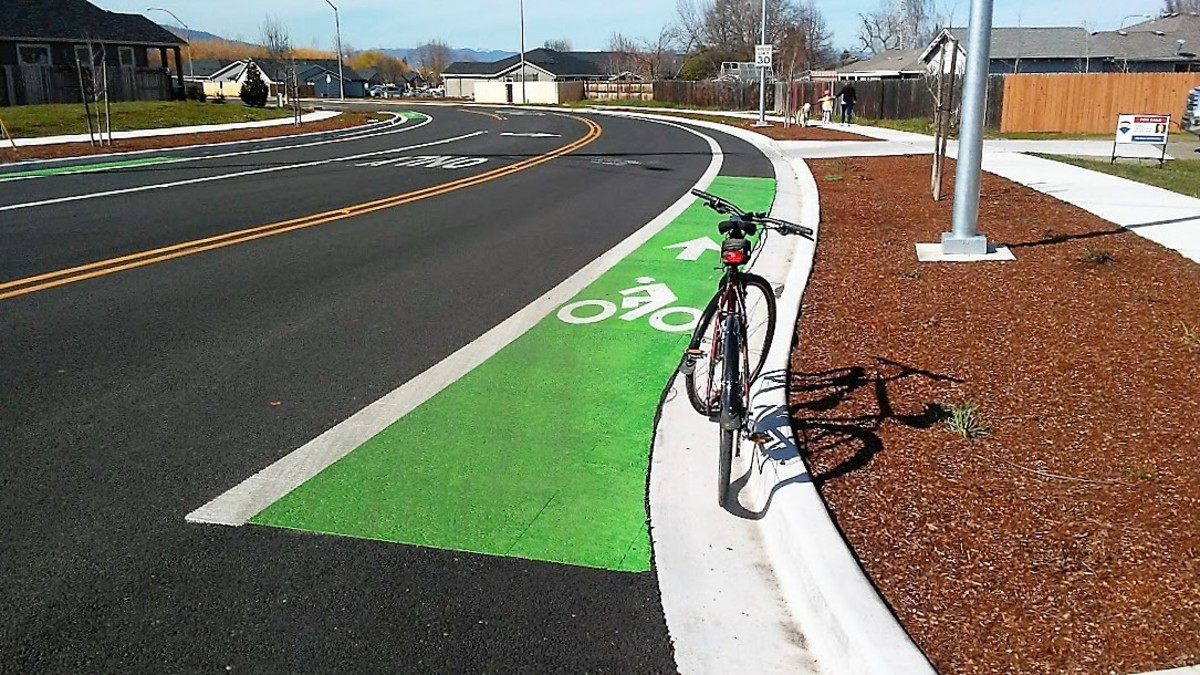 Developed countries provide safe and efficient roads for cyclists...