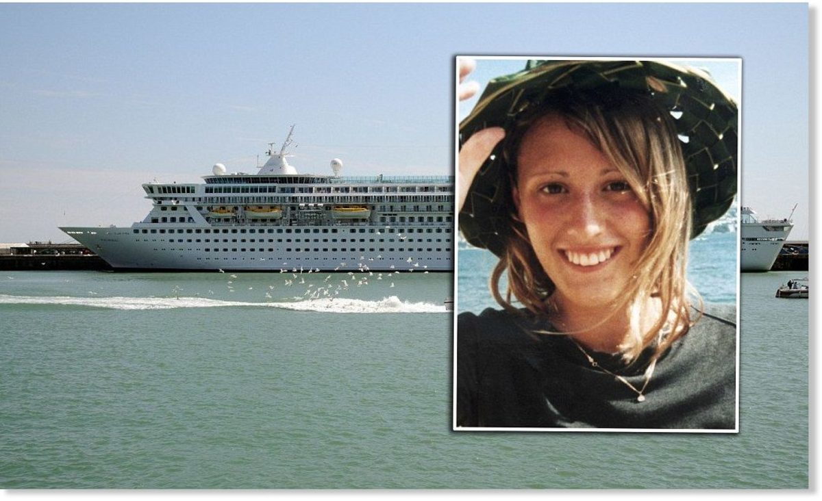 A picture of Rebecca and the Disney ship she disappeared from.