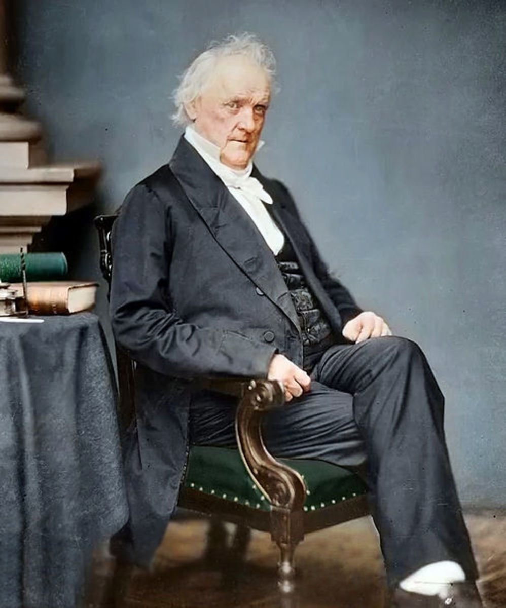 president James Buchanan, 15th U.S. President (colorized)