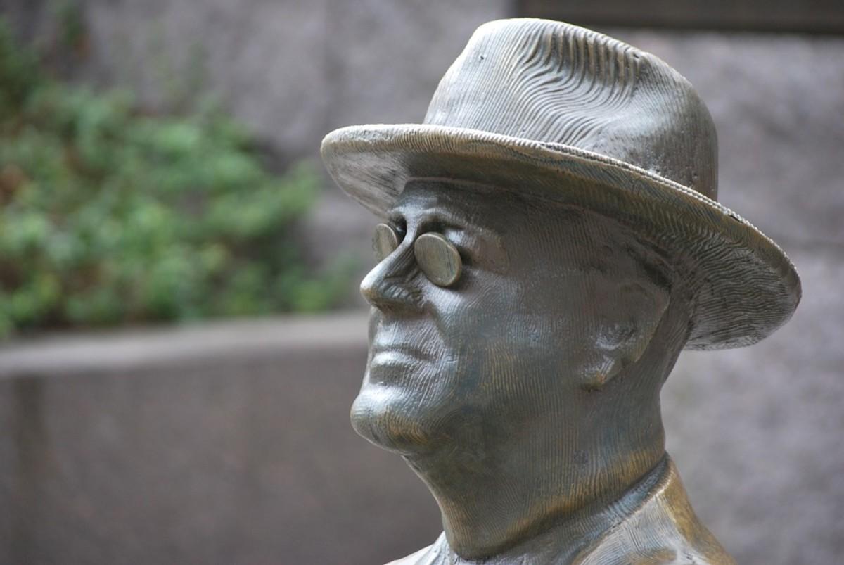President Franklin Delano Roosevelt, 32nd U.S. President, Bronze face