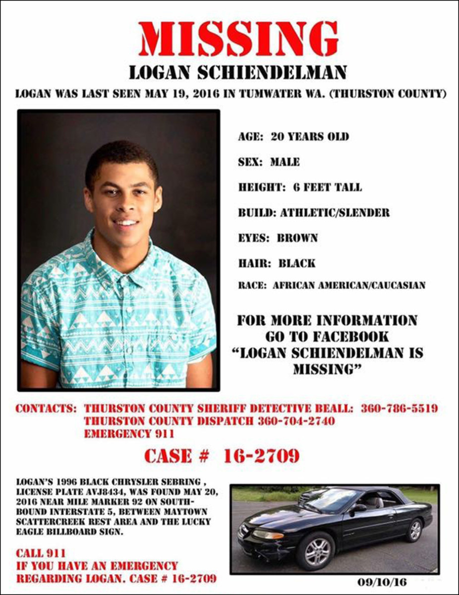 Logan's missing persons poster