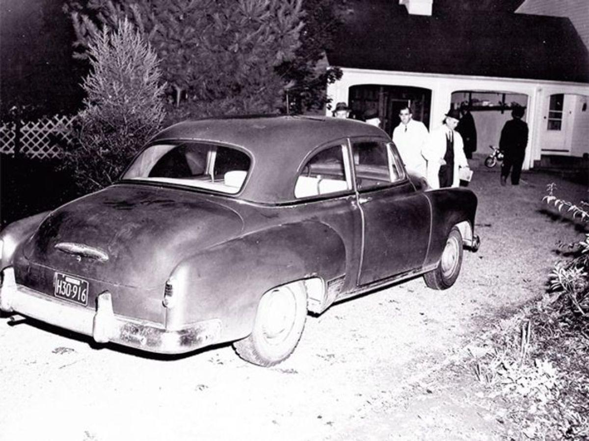 Joan's car in her driveway
