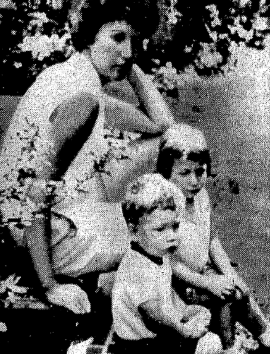 Joan with her two children