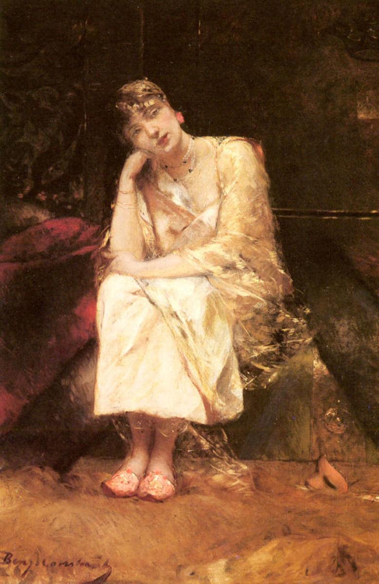 Contemplation by Jean-Joseph Benjamin-Constant.