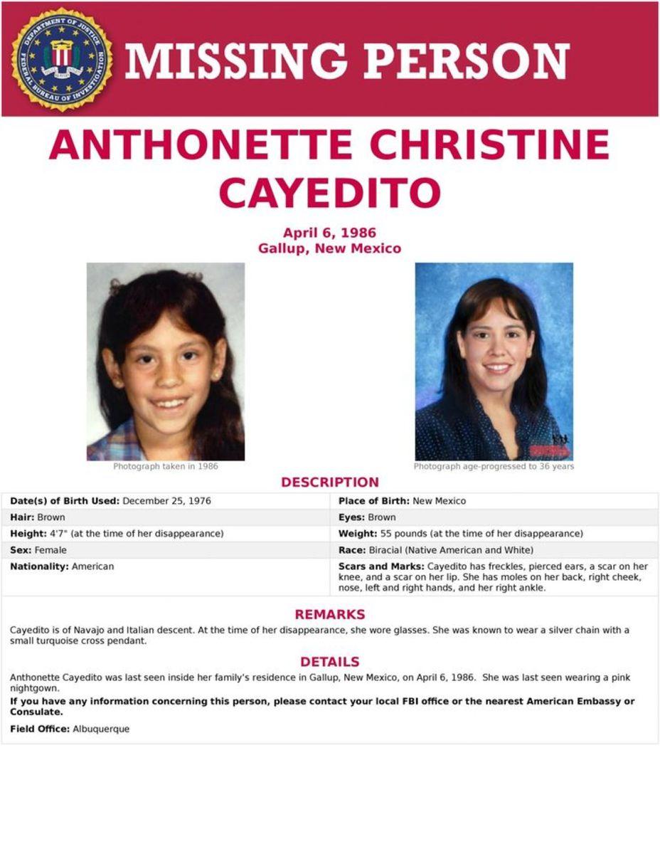 The FBI poster for Anthonette.