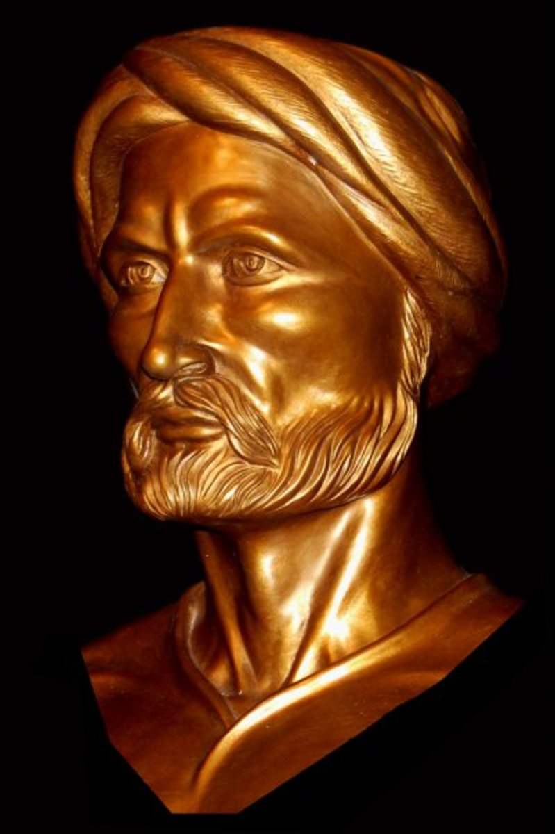Wikipedia Pic of Bust of Ibn Khaldun commissioned by Tunisian Community Center & Created by Patrick Morelli of Albany, NY in 2009