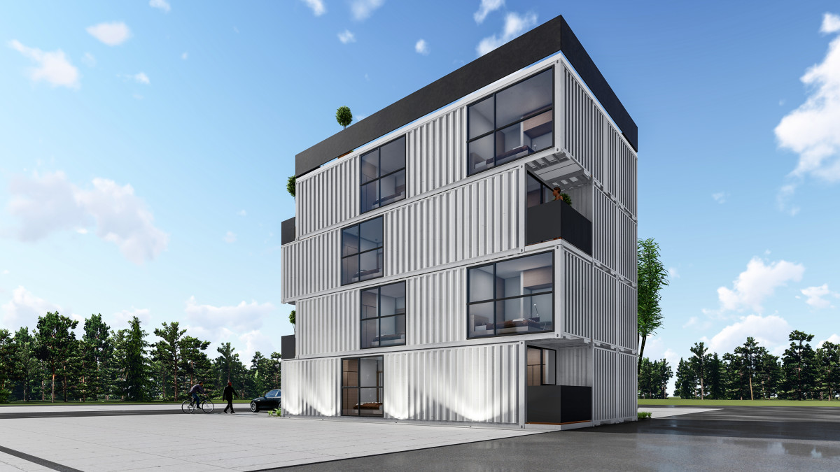 Affordable housing made out of shipping containers