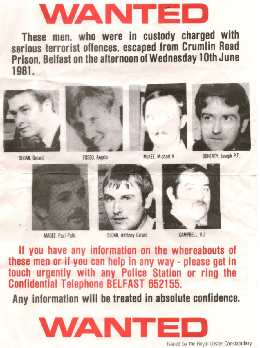 Wanted poster for the M60 Squad escapees