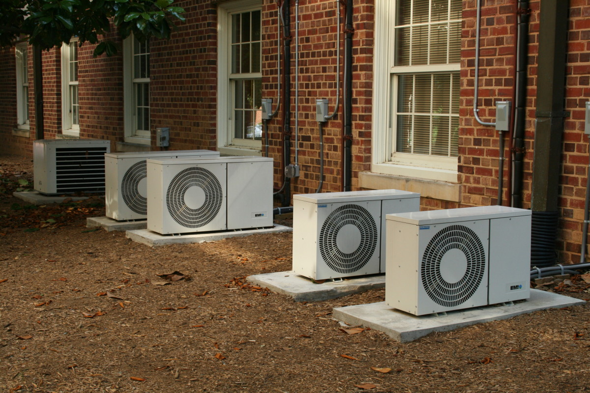 Air conditioners like these pictures here were once pollutin the Ozone layer