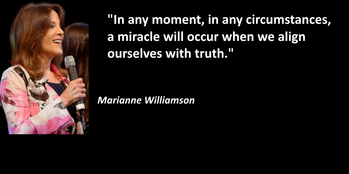 Marianne Wiliamson clearly didn't know that some whistleblowers have been on the run for a while.