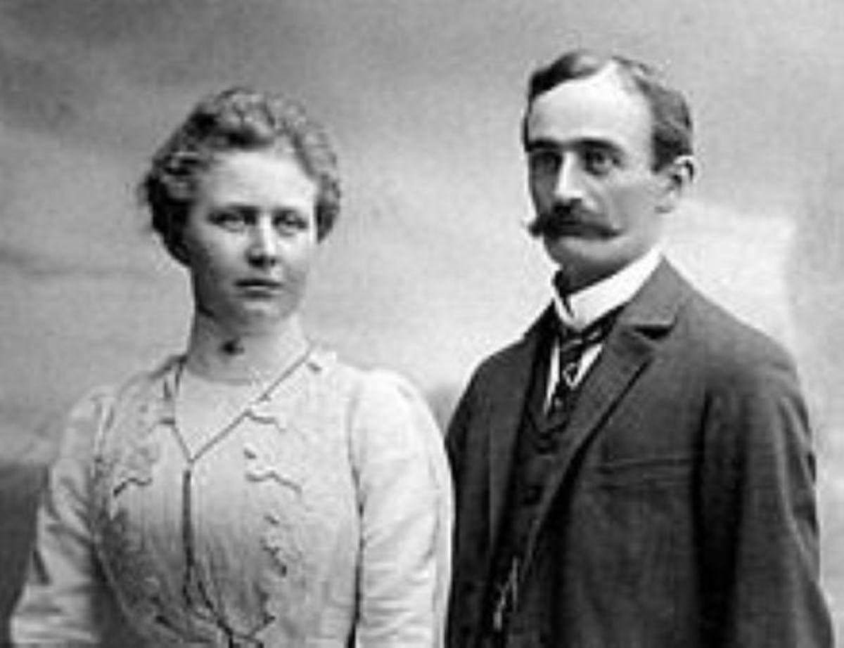 """Elizabeth Christ and Friedrich """"Fred"""" Trump"""
