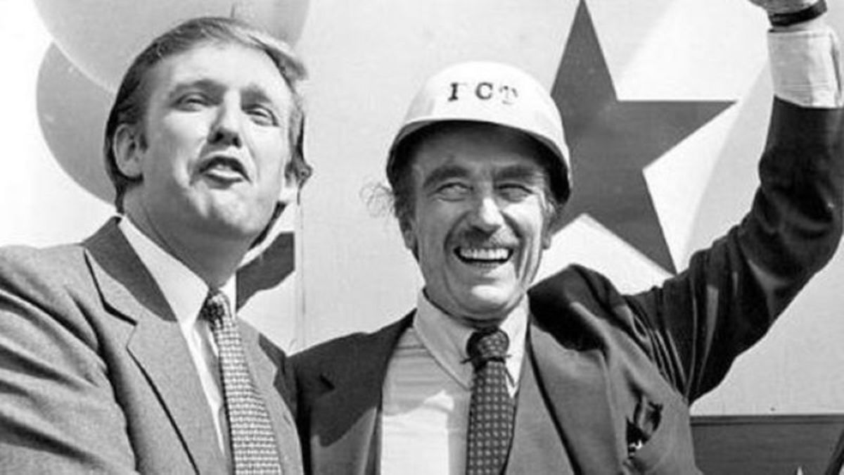 Donald John Trump and his father Fred Trump II.