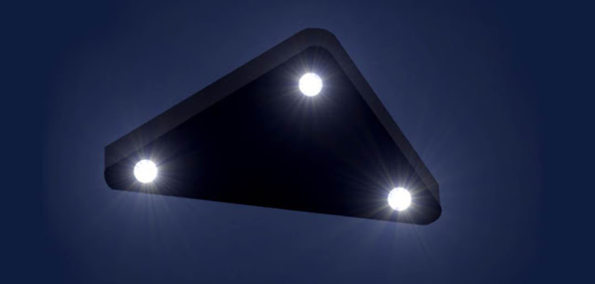 Artist rendering of the more common triangle UFO