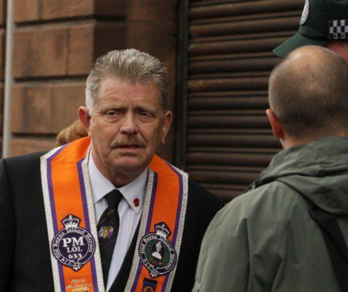 Eddie McIlwaine, a member of the Shankill Butchers gang, is a senior member of the Orange Order. While marrying a Catholic prohibits membership of the Loyal Orders, multiple convictions for the murder & torture of Catholics is no bar to membership