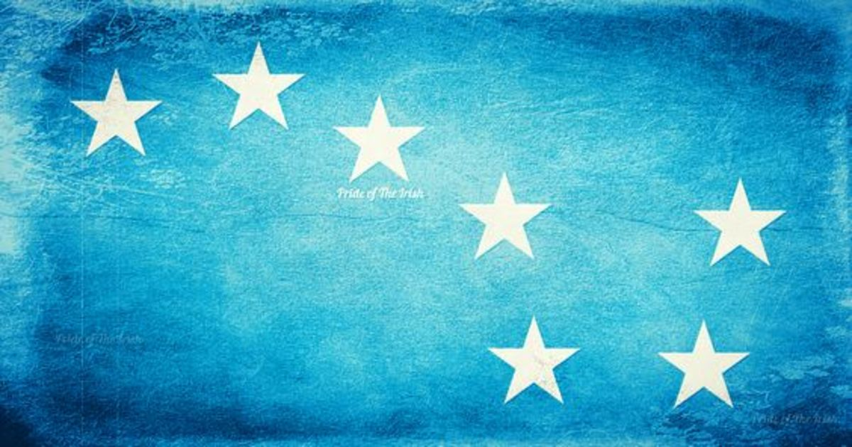 The modern day Starry Plough flag, that had it's debut in the 1930s with the left-wing Republican Congress.