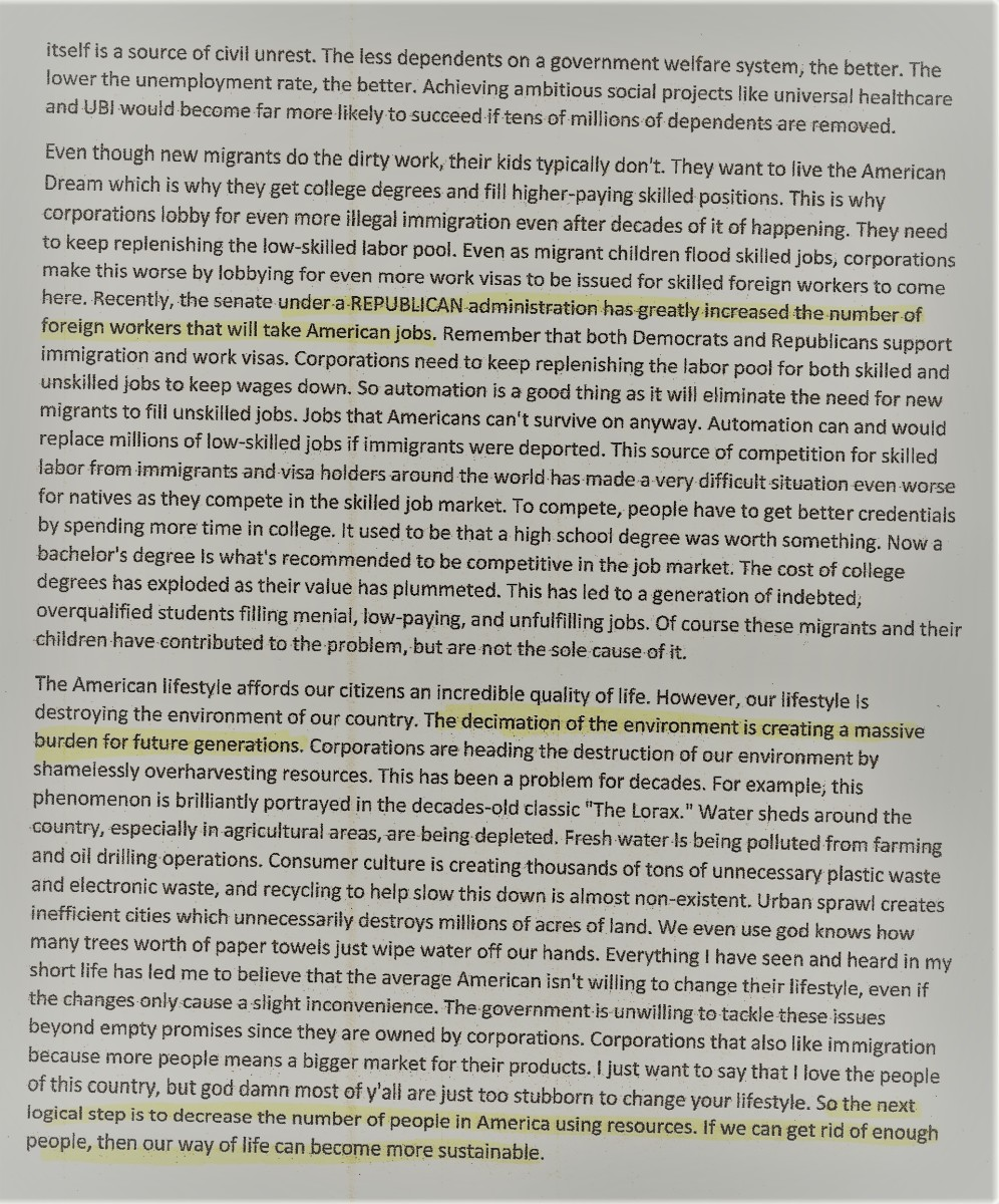 Page two of the Manifesto