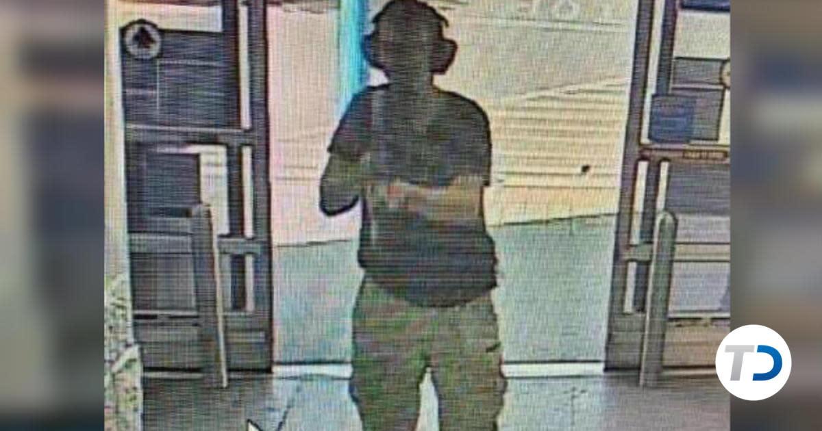 Suspect Patrick Crusius on surveillance camera