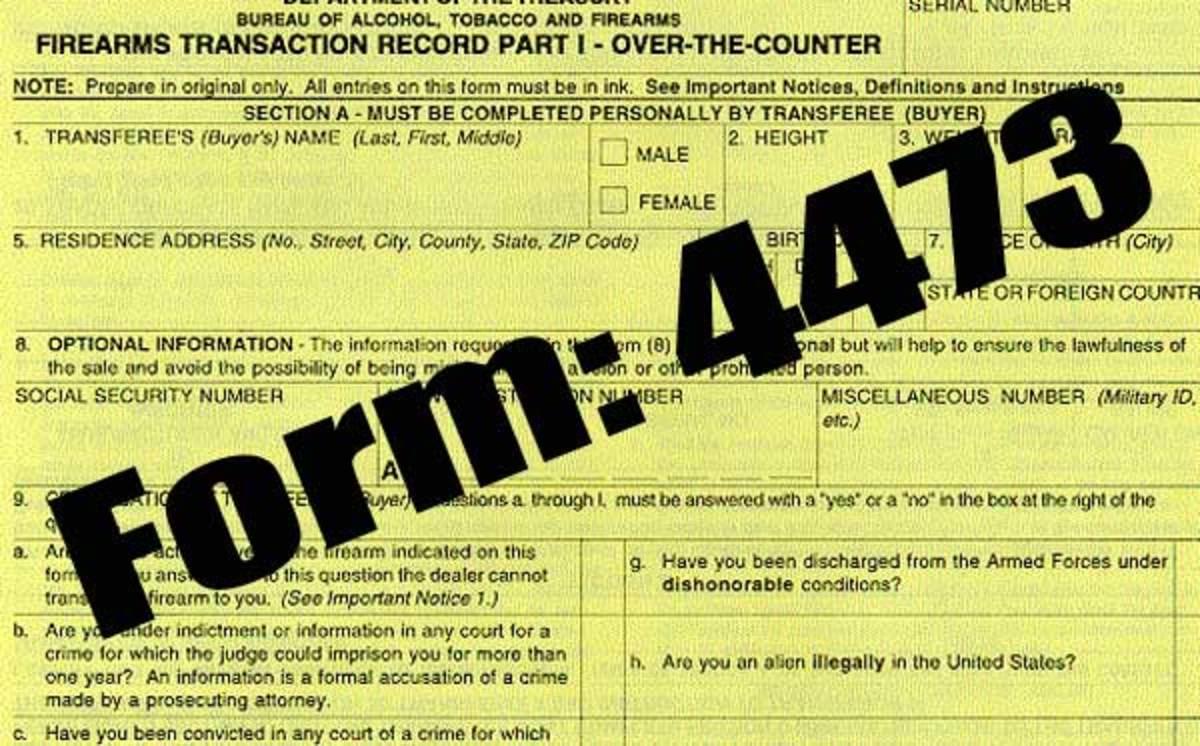 Gun registration form