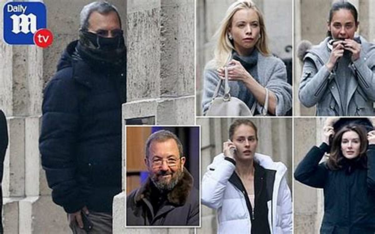 Former Israeli Prime Minister Ehud Barak entering Epstein mansion in 2016.