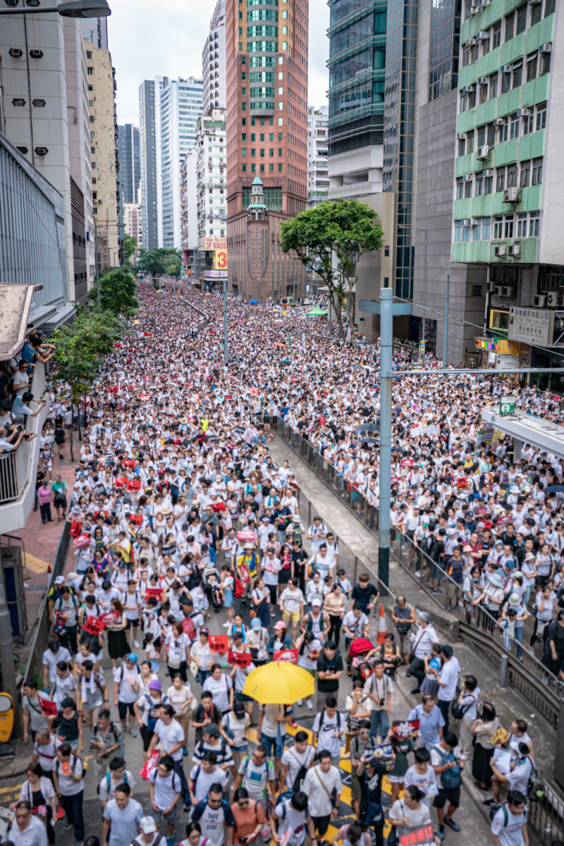Many protesters demand an extradition treaty with Taiwan alone.