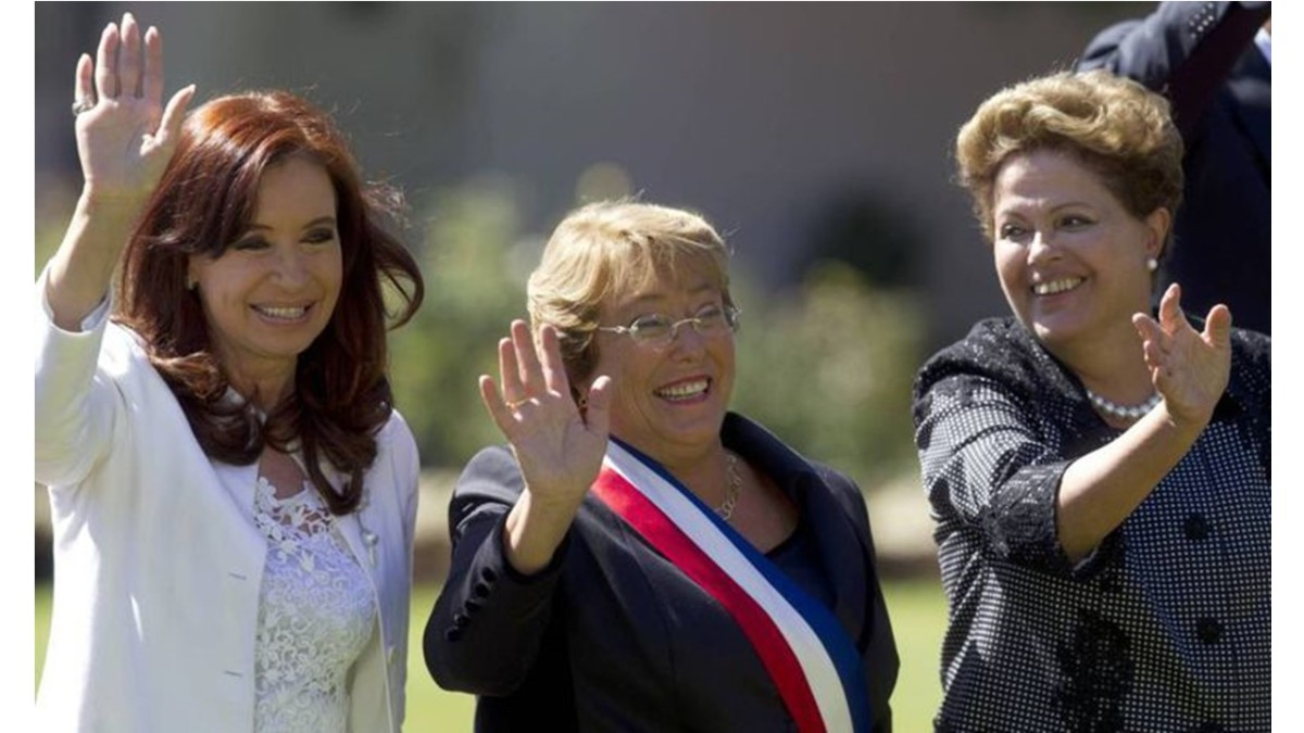 Presidents: Cristina Fernández de Kirchner,  Laura Chinchilla, and Dilma Rousseff