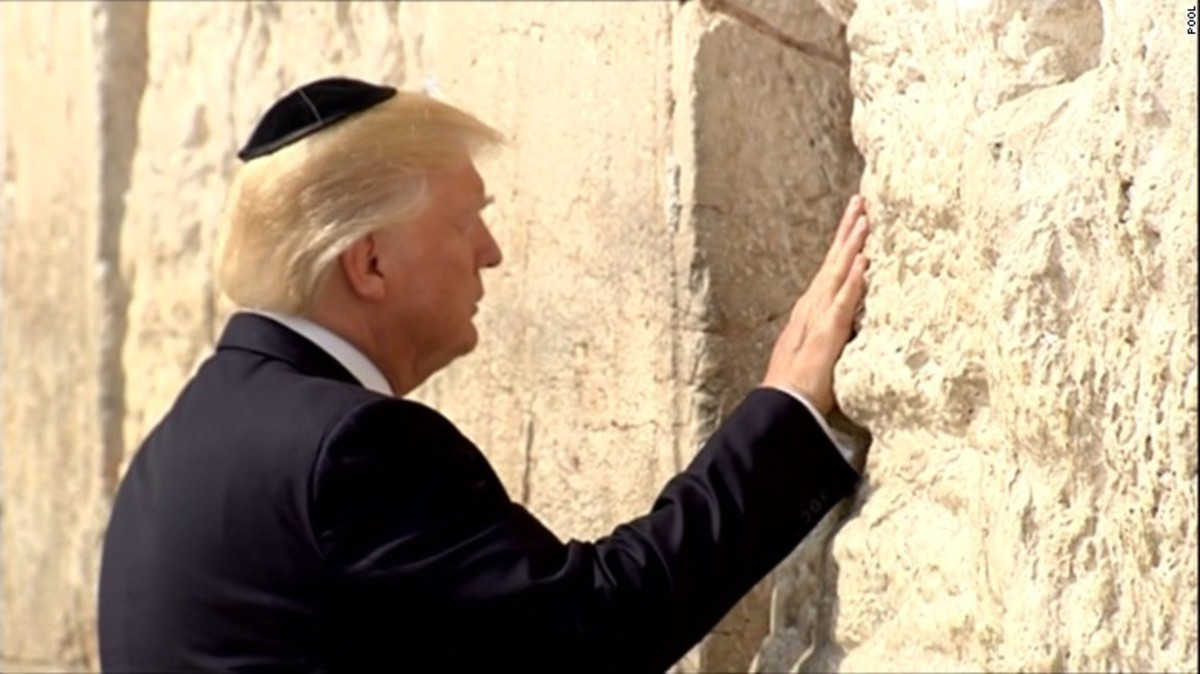 President Trump at the Western Wall in Israel, 2017