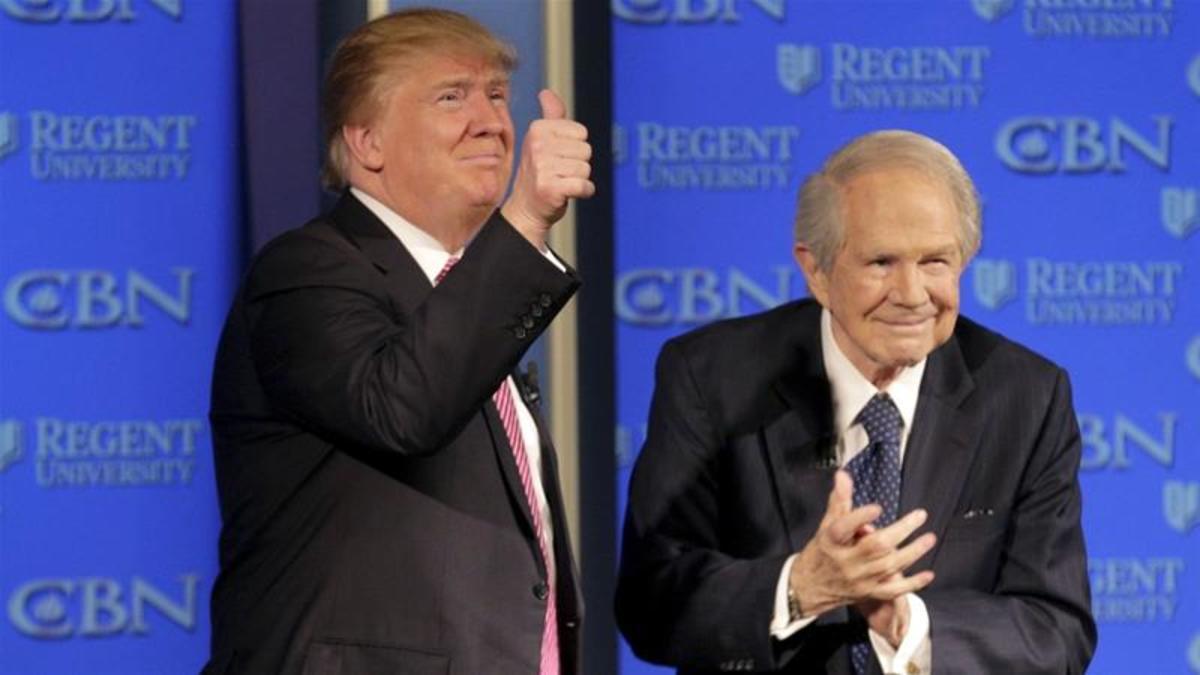 President Trump with televangelist Pat Robertson