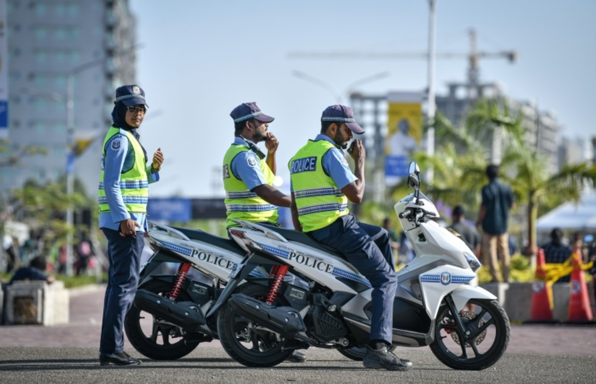Traffic police preparing for patrol