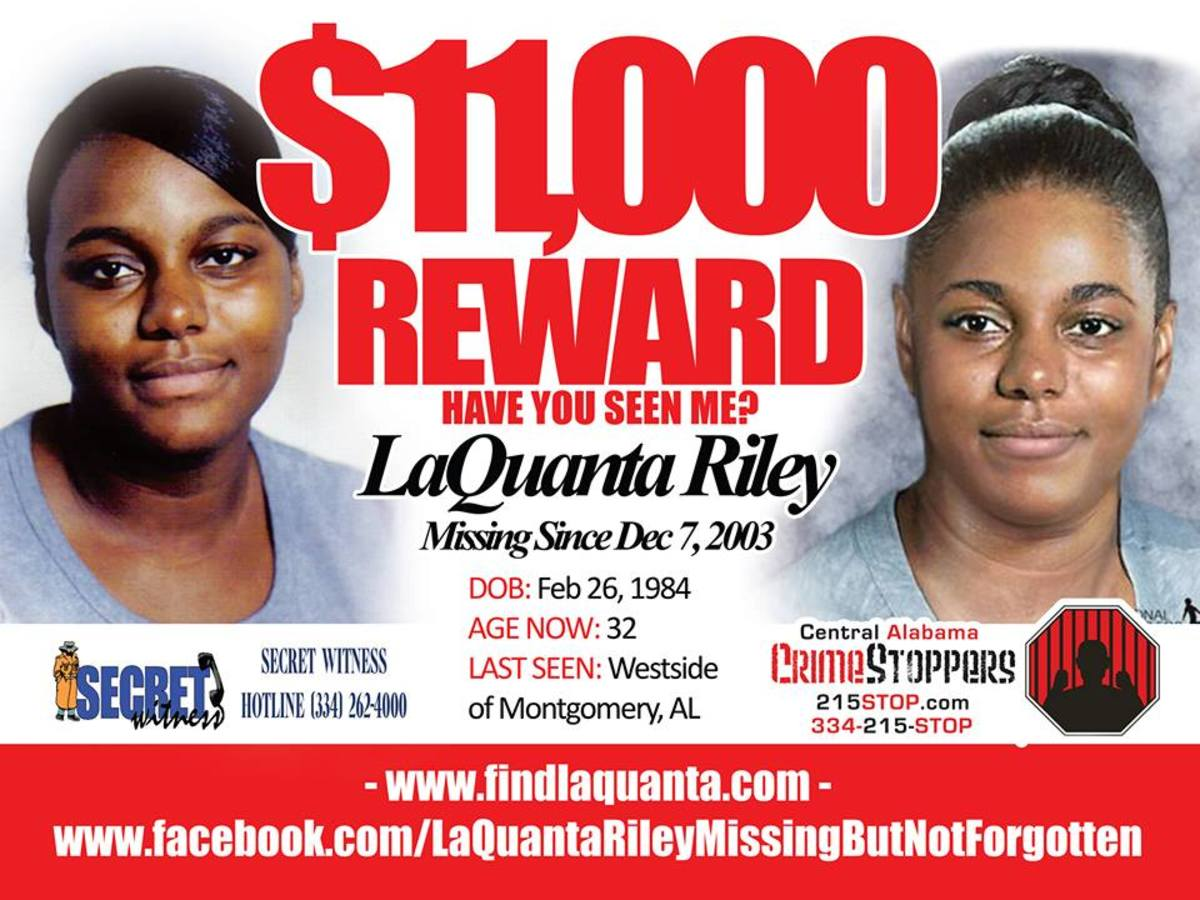 A missing-persons poster for LaQuanta.