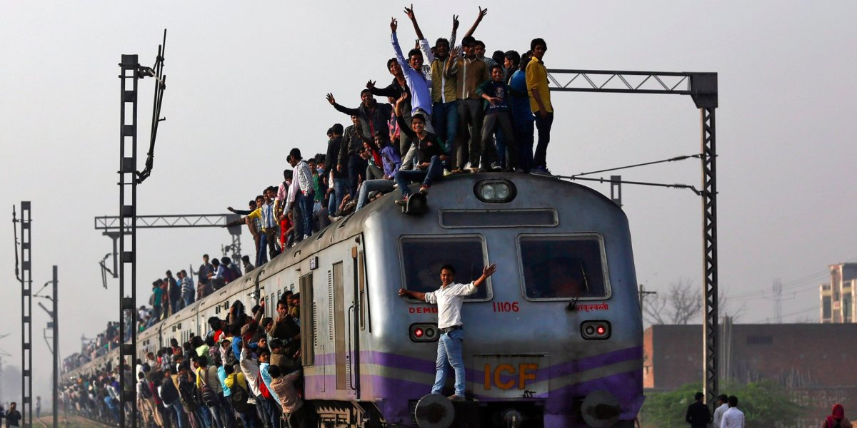 From Article: These photos of India's overcrowded railways will make you grateful for your commute