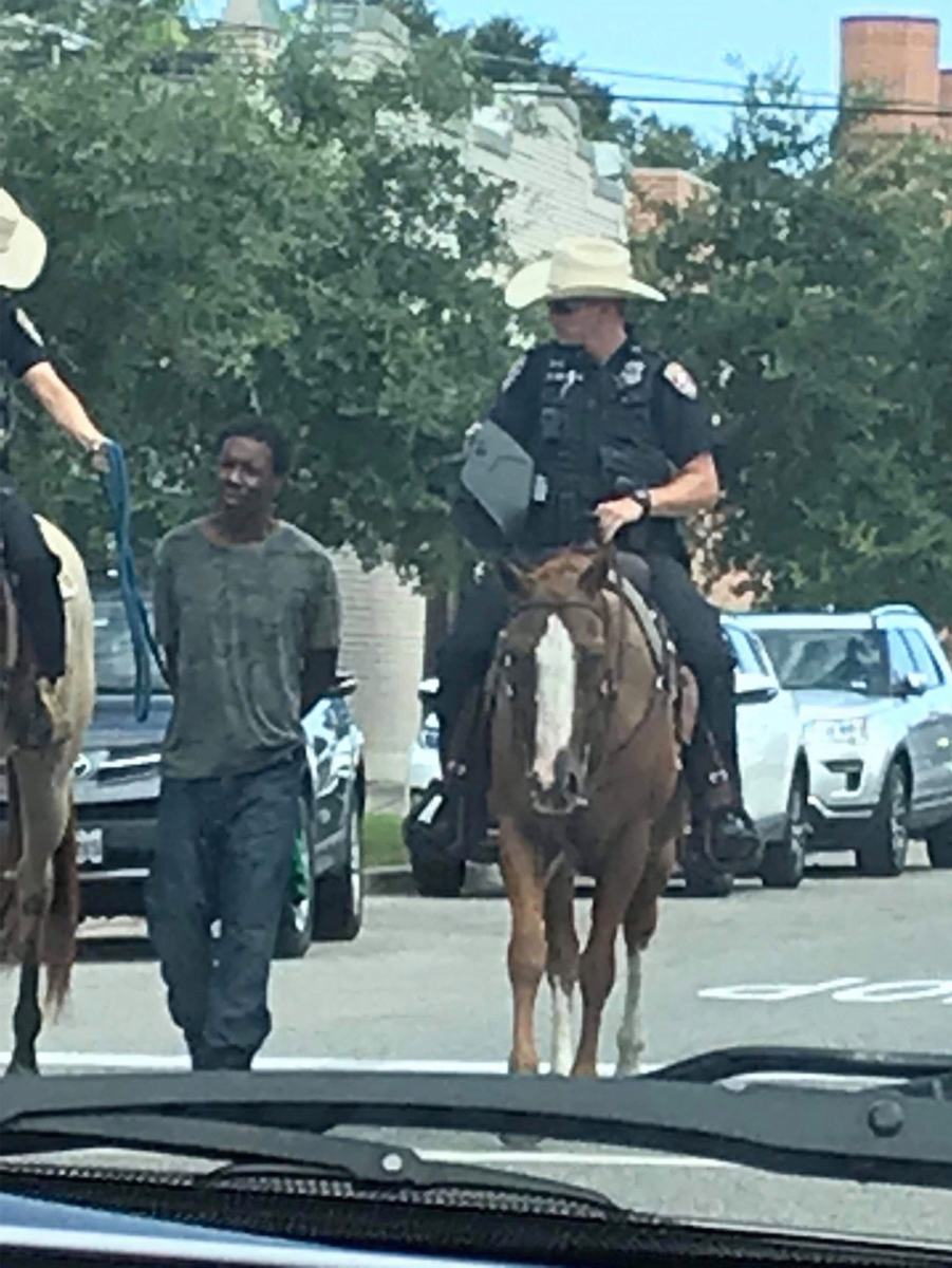 2019 arrest in Texas of black man