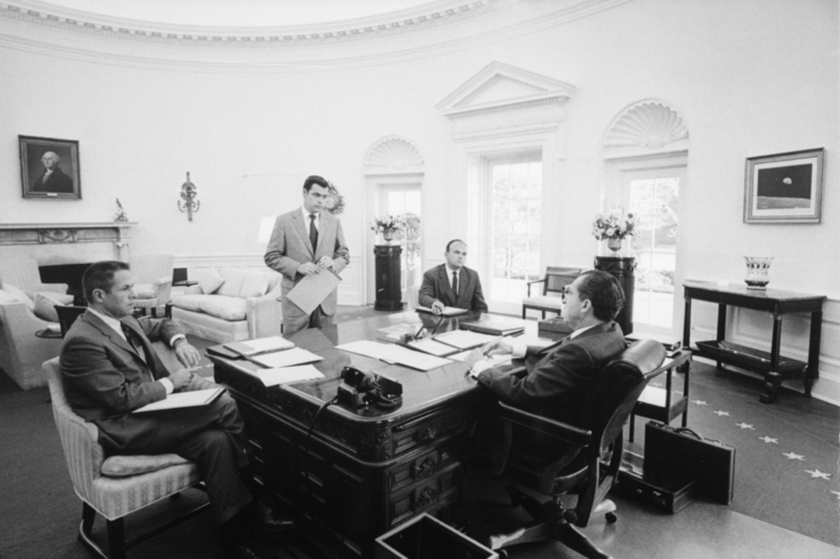 President Nixon and his advisers in 1970.