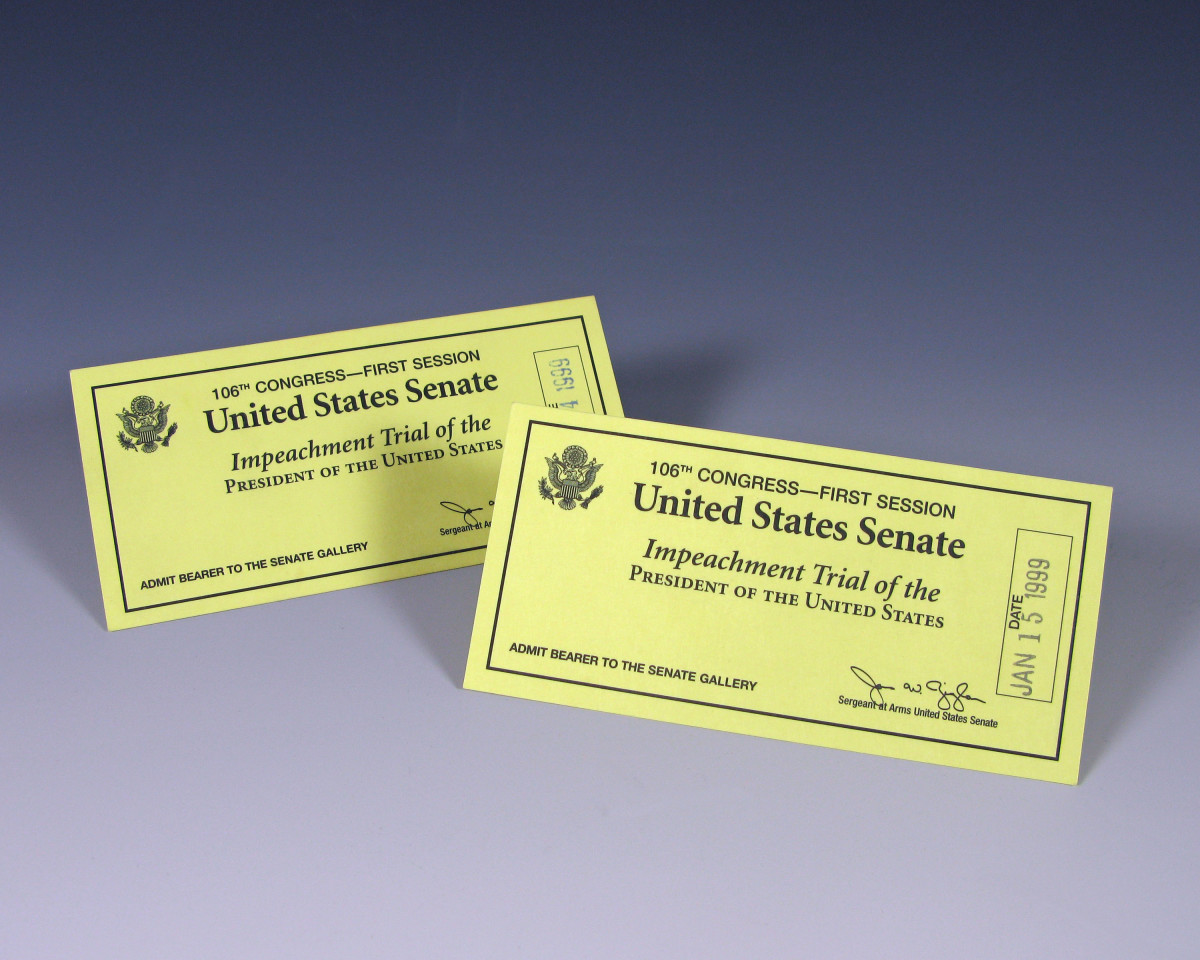 Tickets to the Bill Clinton impeachment trial.