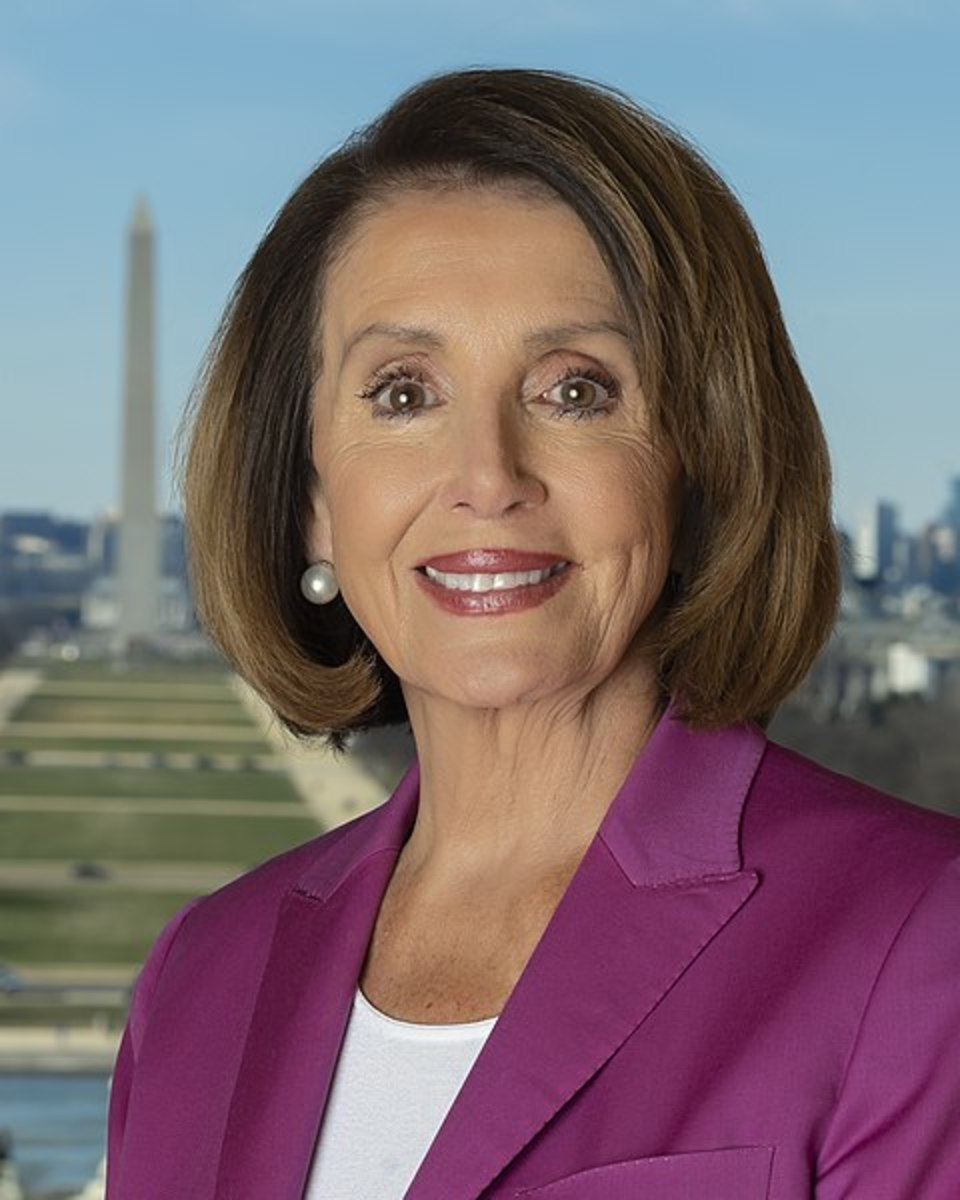 The Speaker of the House of Representatives Nancy Pelosi.