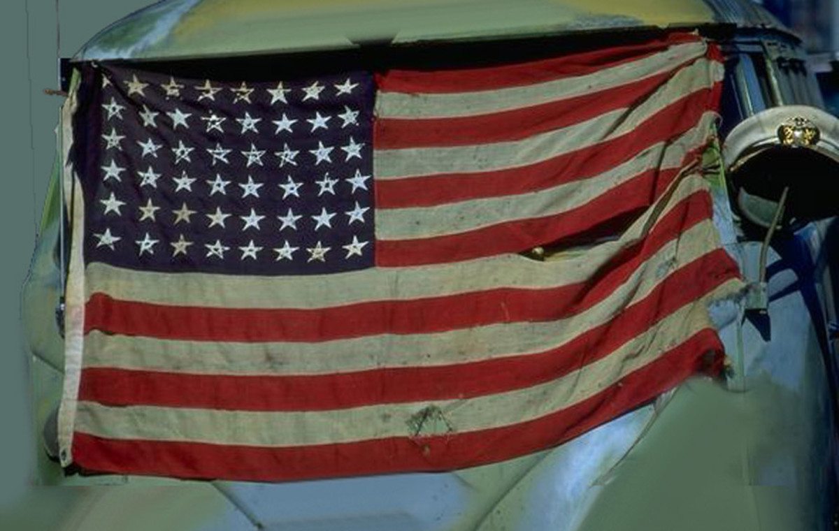 The American flag today is in tatters in the view of the Democrats