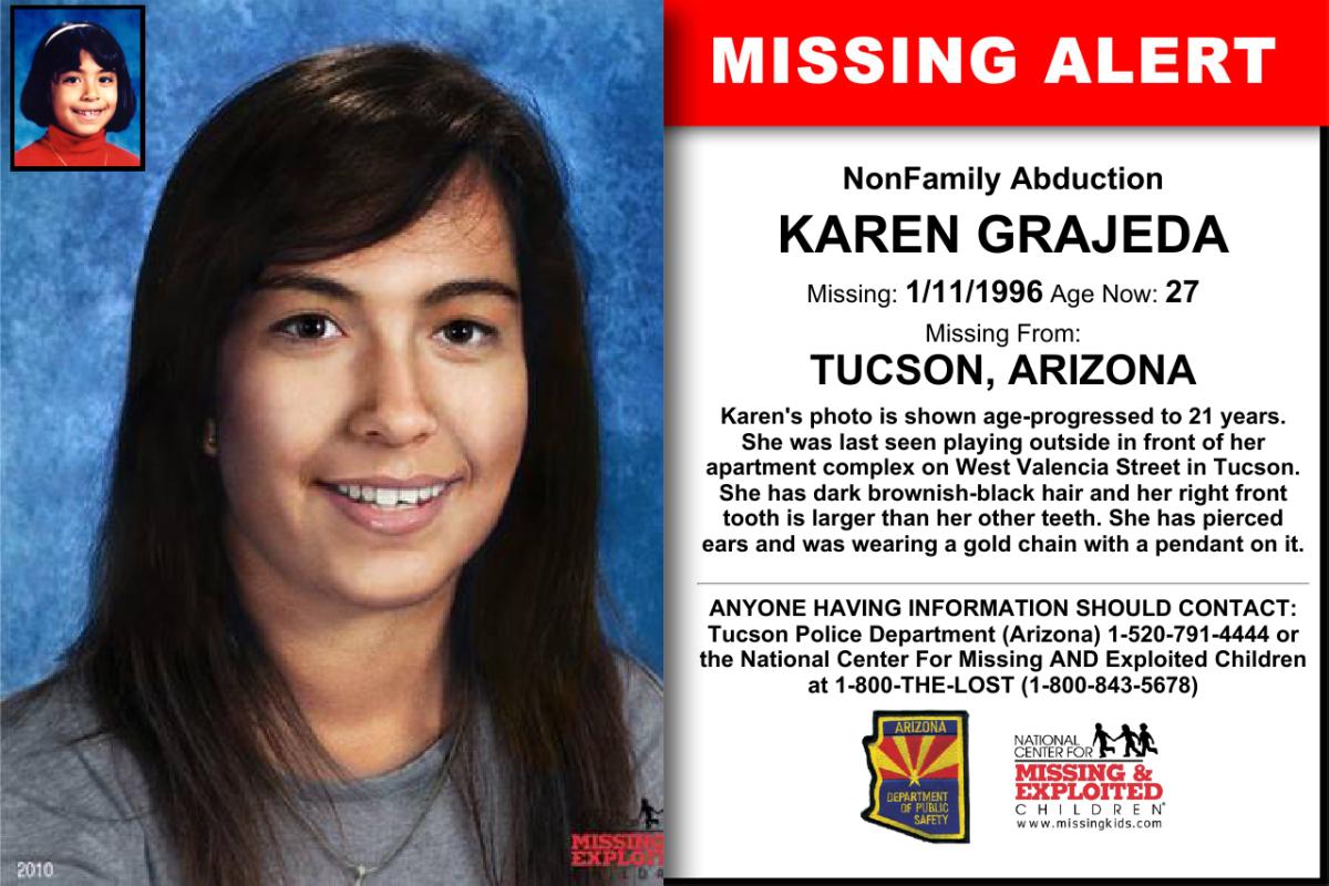 Karen's missing poster