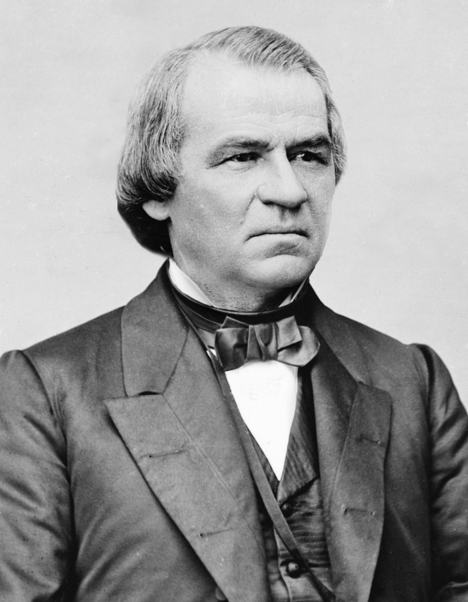 Portrait of Andrew Johnson circa 1875.