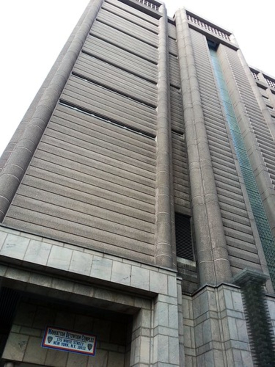 The grim facade of the current Tombs.