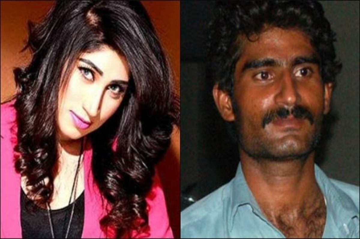 On the left is Qandeel Baloch and on the right is her brother—who murdered her.