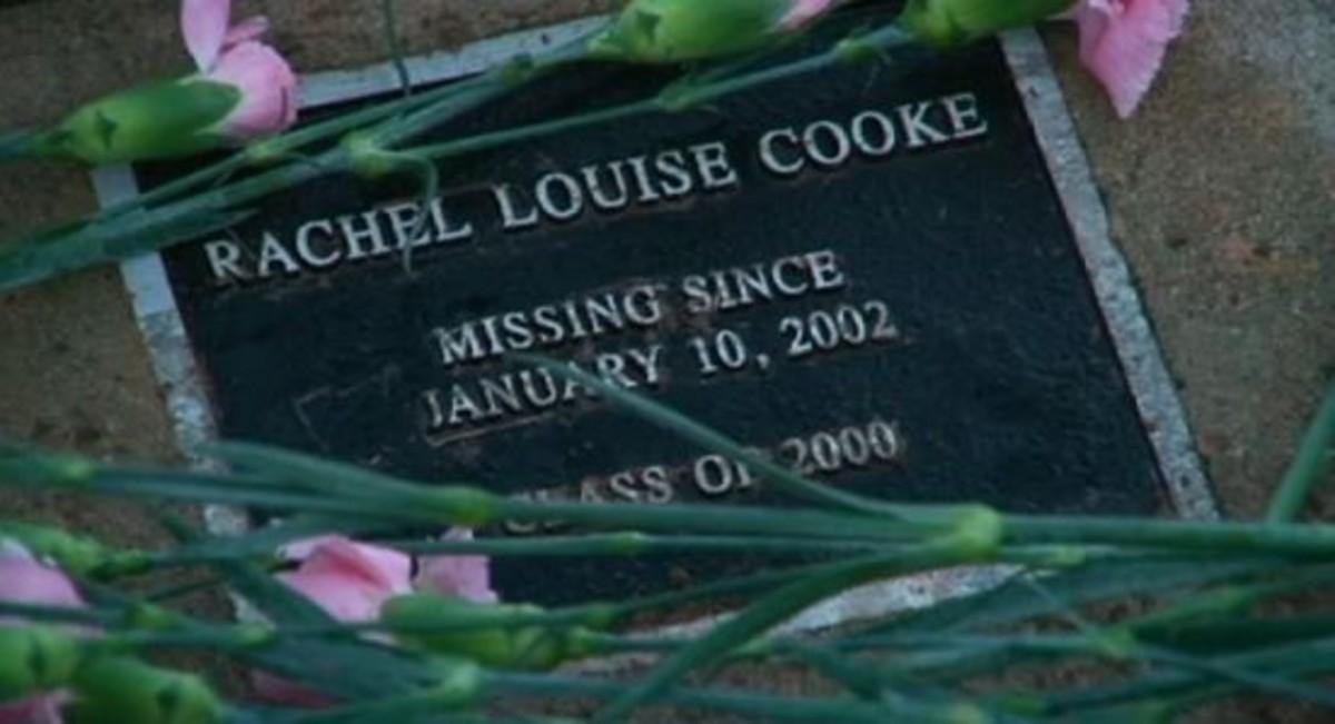 Memorial plaque for Rachel Cooke, missing from Georgetown, Texas.
