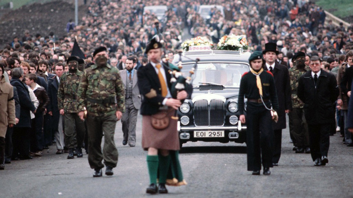 Over 100,000 mourners attended the funeral of the first Hunger Striker, Vol Bobby Sands, MP.