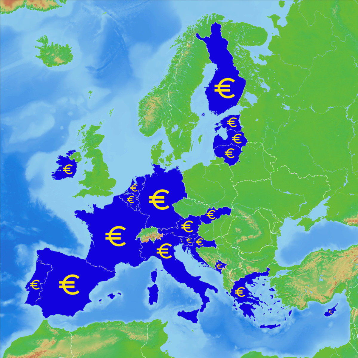 Not each out of 28 member states is using Euro as currency.